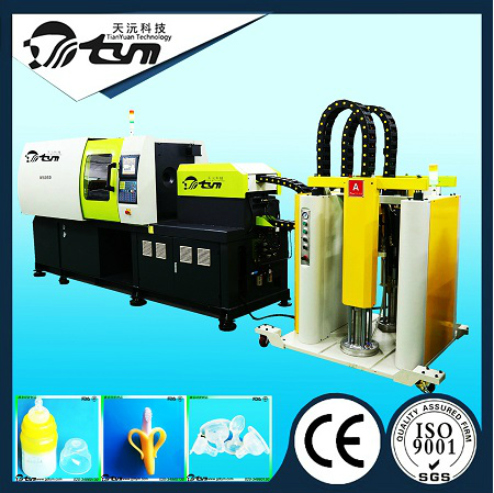 120T卧式液态硅胶注射成型机-TYM-W4040-液态硅胶奶嘴生产设备